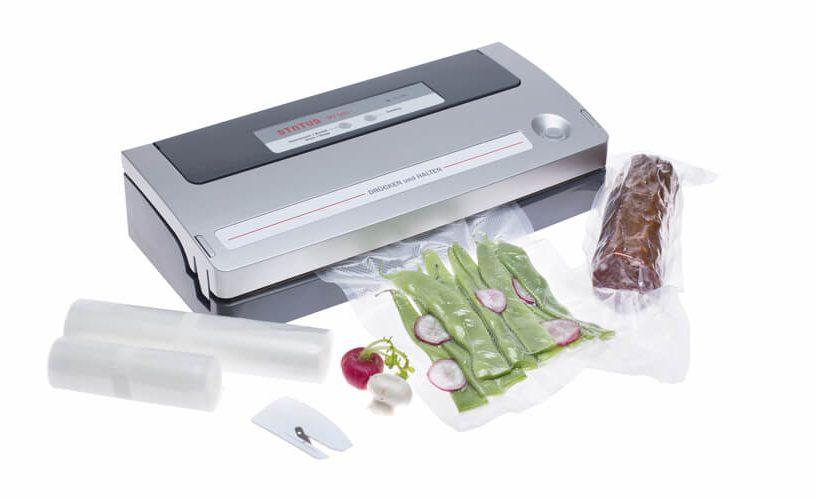Siva inačica vakumirke BV500 za vakumsko pohranjivanje mesa i povrća.