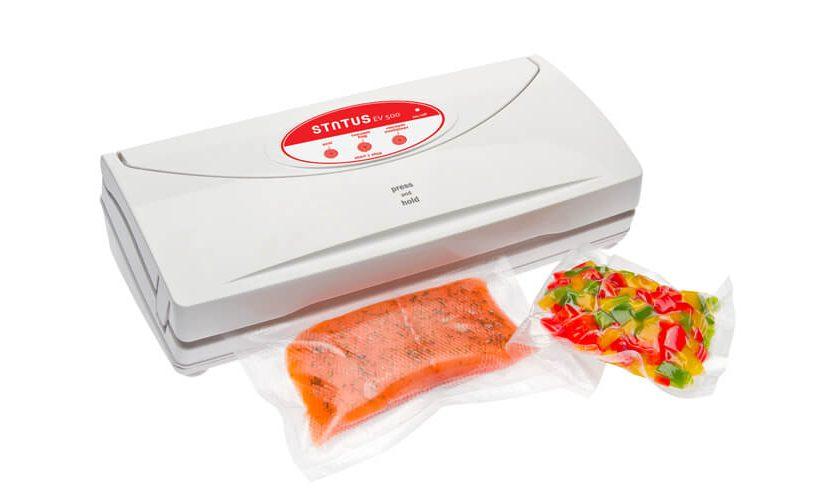 vakumirka EV500: zavakumirajte losos i narezanu papriku.