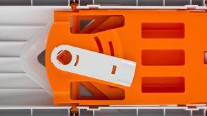 prikaz spodnje strani rezalnika rezinarja v oblike