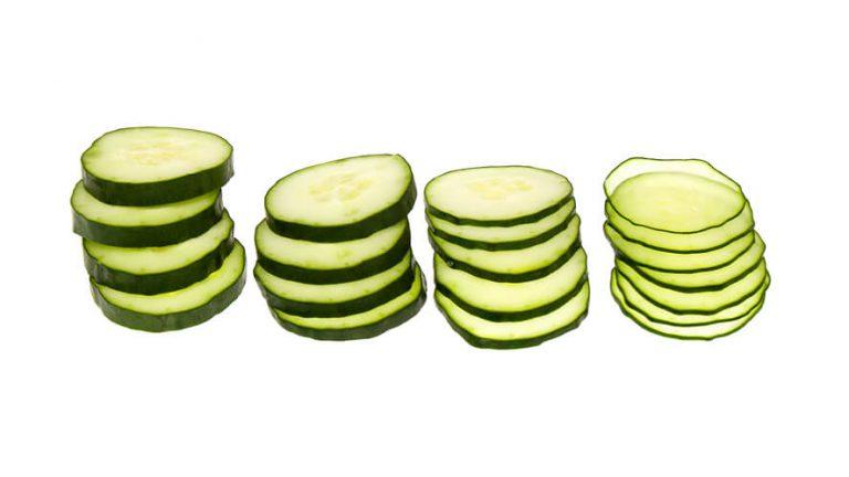 Primeri debelin rezin narezanih z rezalnikom rezinarjem.